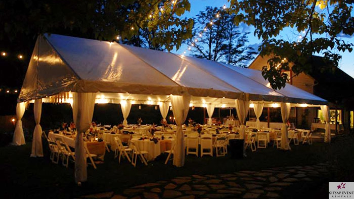 This is a 30u0027 by 40u0027 tent illustrated for 125 guests. Perfect for dining and socializing. & Kitsap Event Rentals - Tents Tables Chairs u0026 More